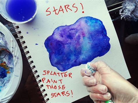 spray paint galaxy tutorial give back to artistry tutorial how to paint a galaxy