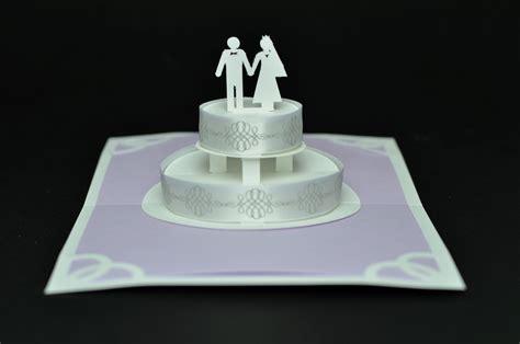 how to make pop up cake card lavender wedding cake pop up card creative pop up cards