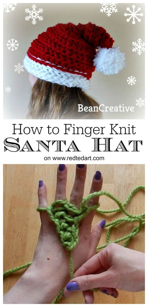 how to finger knit a hat 25 unique finger knitting projects ideas on