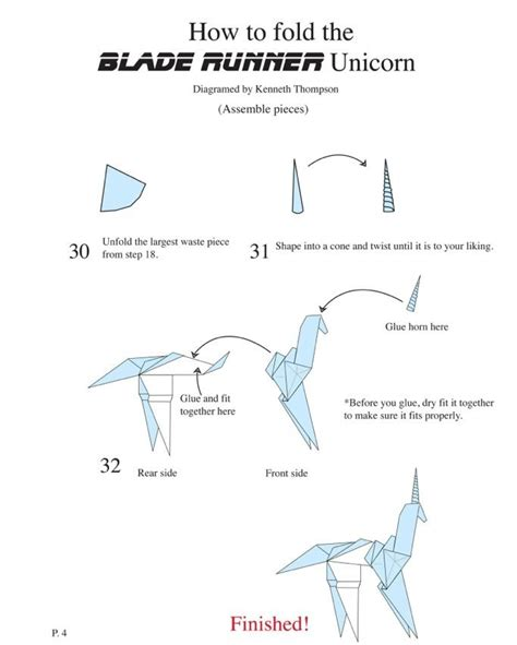 blade runner unicorn origami 1000 images about how to make gaff s unicorn origami from
