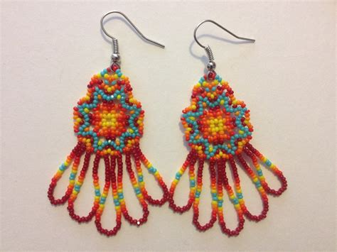 beaded earrings american handmade american beaded earrings
