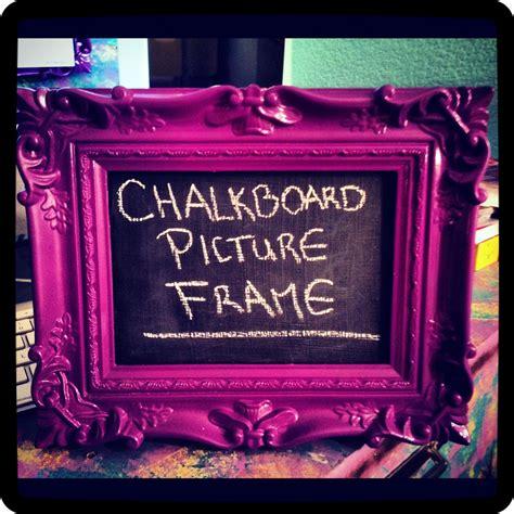 diy chalkboard picture frame tutorial diy chalkboard picture frame diy craft riot