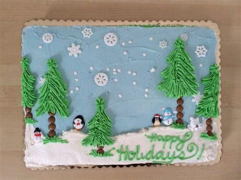 winter wonderland sheet cake beautiful cakes pinterest