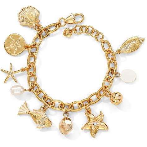 bracelet charms marine gold marine gold charm bracelet bracelets