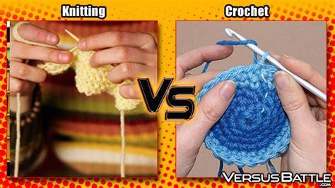 knitting or crochet needles ready knitting vs crochet versusbattle