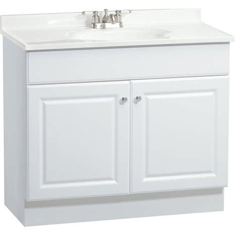lowes bathroom vanities white project source c14 white integral 1 bathroom vanity with