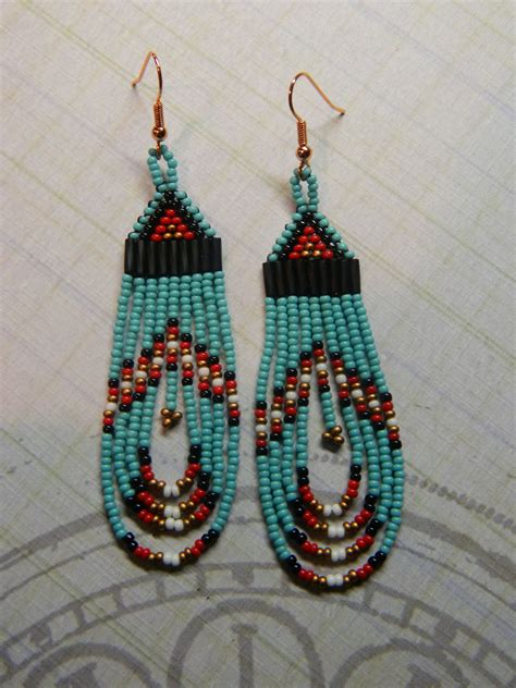 beaded earrings american american beaded earrings beautiful handcrafted loops