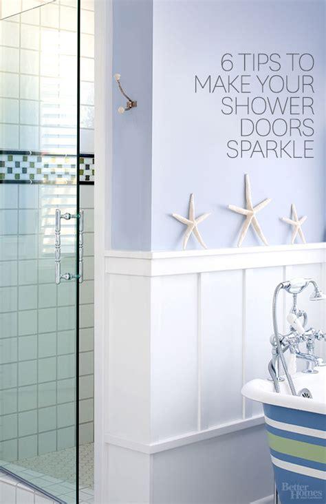 cleaning shower glass door how to clean shower doors