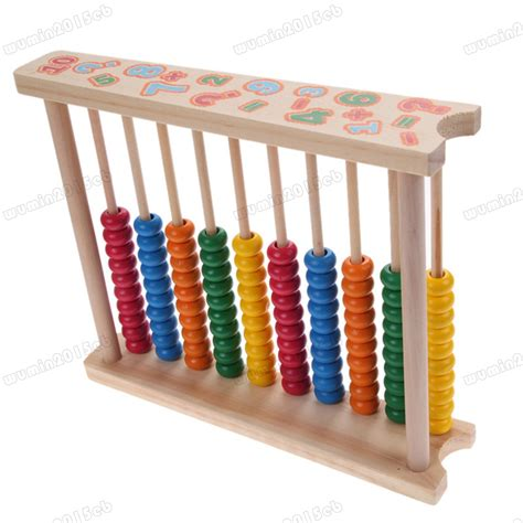bead counting frame childrens 20cm wooden bead abacus counting frame