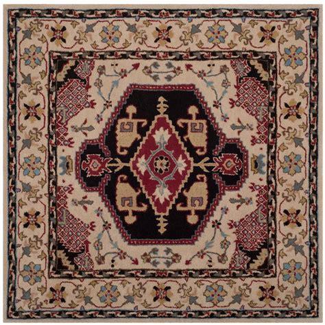 5 ft area rugs safavieh bellagio beige black 5 ft x 5 ft square area