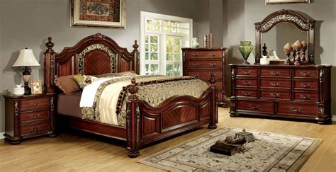 cherry furniture bedroom arthur brown cherry poster bedroom set cm7587q bed