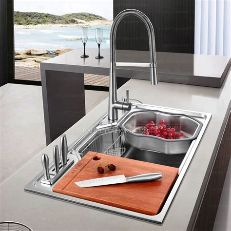 large stainless steel kitchen sinks practical large capacity single bowl stainless steel