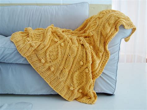 chunky cable knit blanket pattern items similar to chunky yellow cotton cable knit