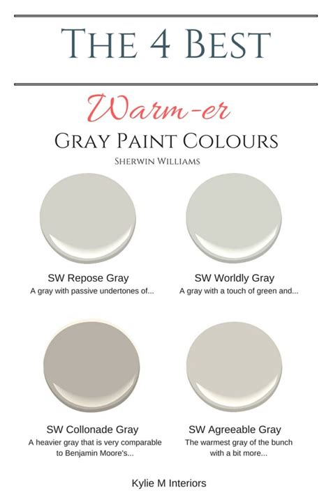 best gray paint colors sherwin williams the 4 best warm gray paint colours sherwin williams