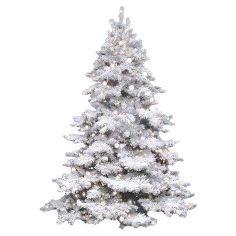 flocked white artificial trees vickerman flocked alaskan 4 5 white artificial