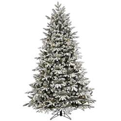 snow flocked tree shop ge 7 5 ft pre lit alaskan fir flocked artificial
