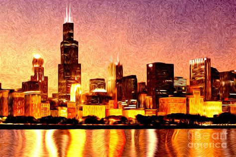 paint nite chicago chicago skyline at digital painting chicago