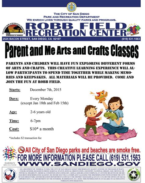 arts and crafts classes for parent and me arts and crafts classes at robb field