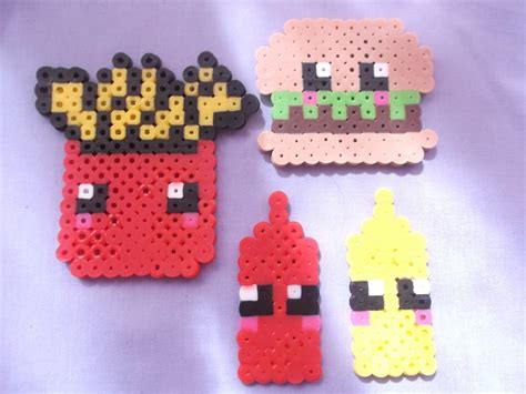 food perler perler food kawaii perler magnets perler