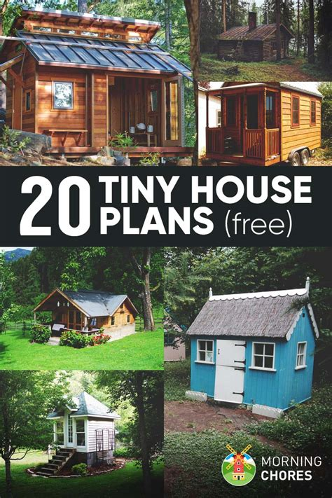 diy small house plans 20 free diy tiny house plans to help you live the tiny