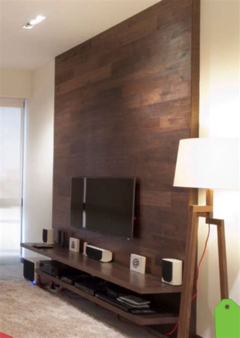 woodworking on tv this tv wall is simple and effective a shelf for