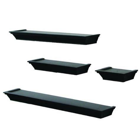 black shelves wall new 4 decorative display floating wall shelf ledge