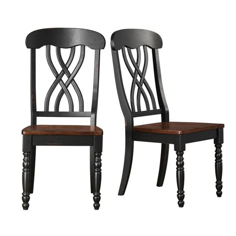 tribecca home dining chairs tribecca home mackenzie country black dining chair set of 2