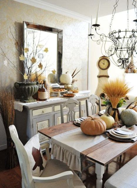 Dining Room Decorations 30 Beautiful And Cozy Fall Dining Room D 233 Cor Ideas Digsdigs