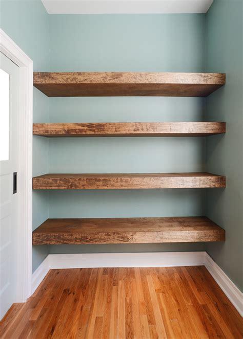 wood plank shelves diy floating wood shelves