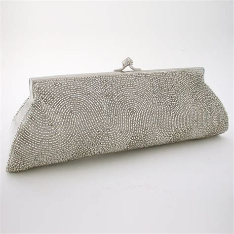 beaded clutches silver beaded clutches evening bags silver beaded clutch