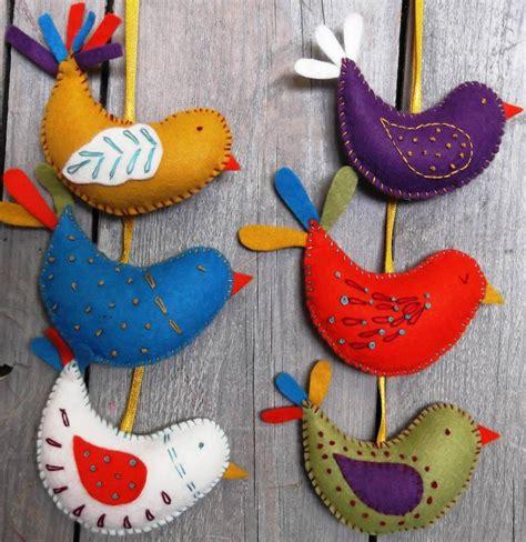 craft uk corinne lapierre felt craft kit summer birds bibelot