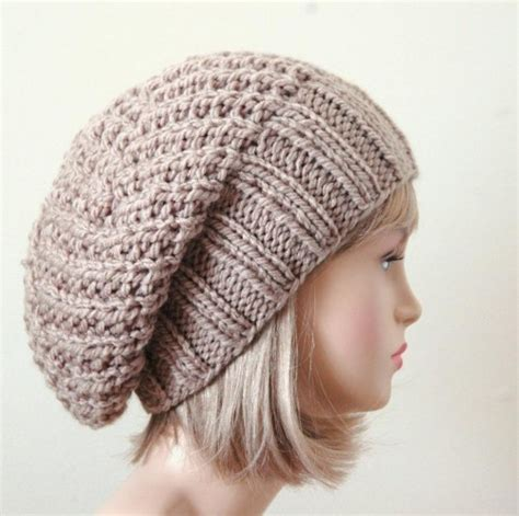 slouchy beanie knitting pattern slouchy beanie hat chunky knit reversible neutral