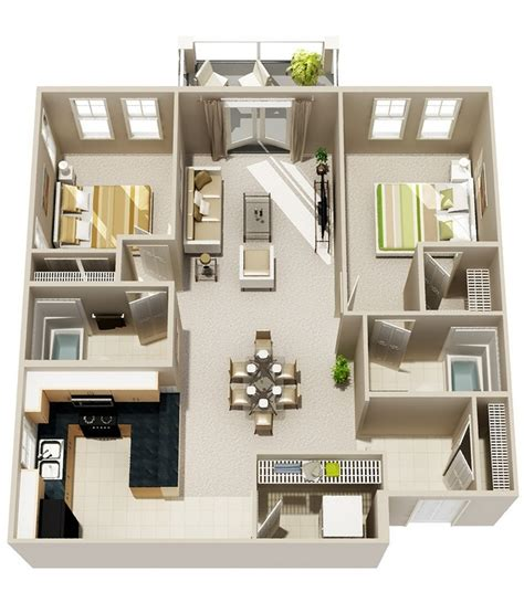 two bedroom design 2 bedroom apartment house plans