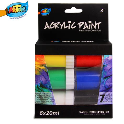 acrylic paint kid safe artoys acrylic paint set 6 paints 20ml high quality 100