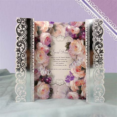 hunkydory card kits card made using frosted florals floral reveal premium