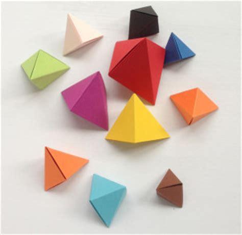 origami paper toys colorful origami bipyramid toys allfreepapercrafts