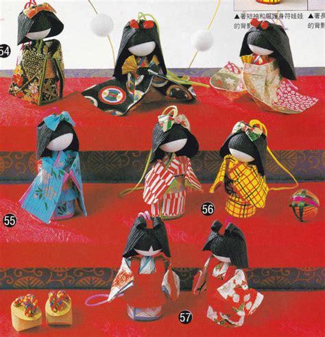 japanese paper craft washi origami paper doll and bookmark japanese craft kimono