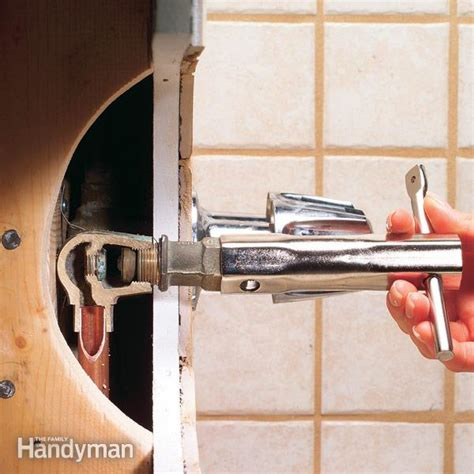 Rubber Shower Hose For Bath Taps how to repair a leaking tub faucet the family handyman