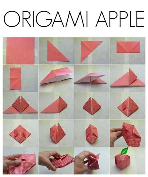 origami apple 25 unique origami apple ideas on paper plants