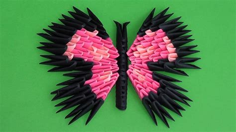 3d origami butterfly 3d origami butterfly assembly diagram tutorial