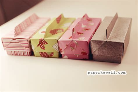 paper box origami with lid origami box lid with handle paper kawaii