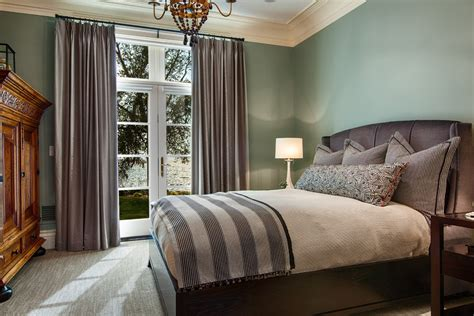 green walls grey curtains superb shamsin bedroom traditional with delightful