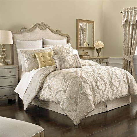 comforter bed leaf 4 pc comforter set light taupe