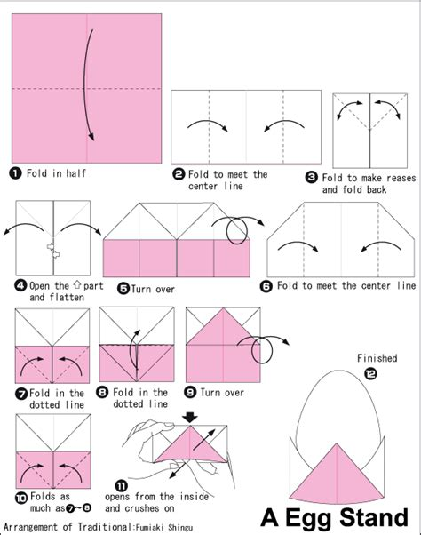 origami easter egg origami egg stand paper craft
