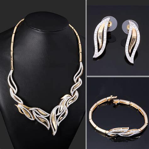 from jewelry leaf design bridal wedding jewelry set of 3piece