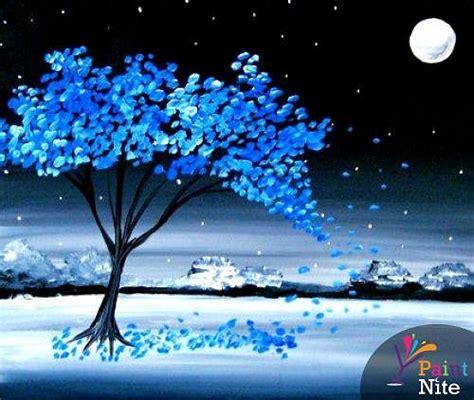 paint nite west island paint nite blue winter plain