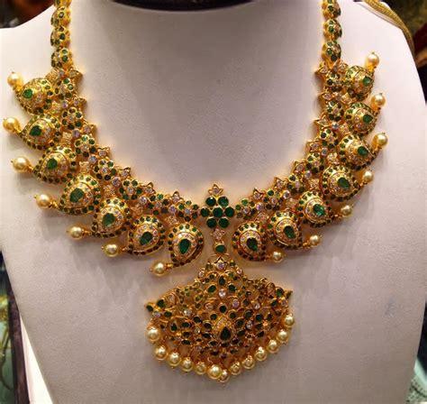 emerald mala emerald mango mala with diamonds