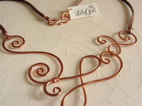 make copper jewelry lilygirl jewelry quot i think best in wire quot a c