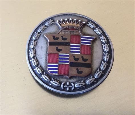 Cadillac Badge by Antique Cadillac Enamel Emblem Radiator Badge Ornament