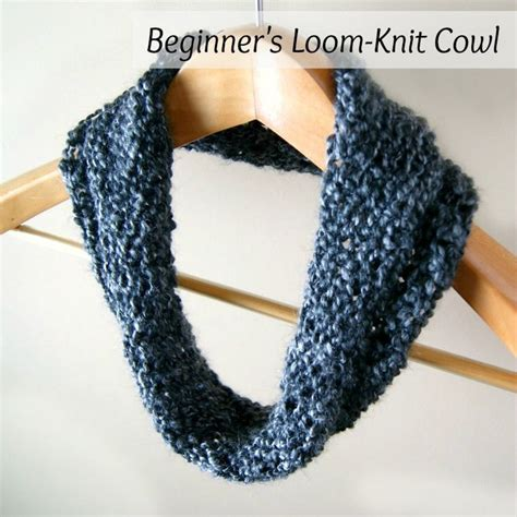 knitting yarn for beginners cowl simple beginner s loom knit tutorial loom knitting